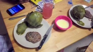 Artichoke dinner.