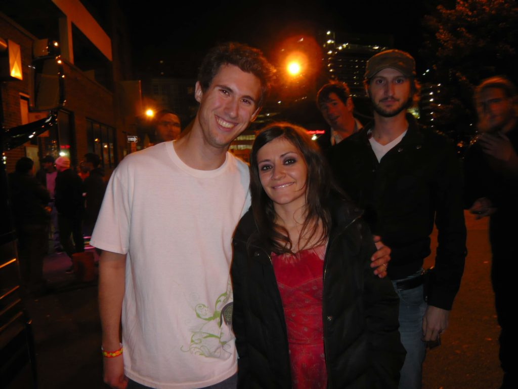 Me and Lacey Mosley after the Flyleaf concert at Sonar.